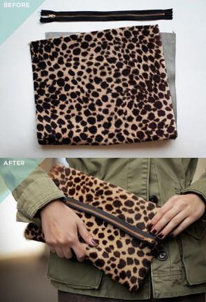 Леопардовый клатч