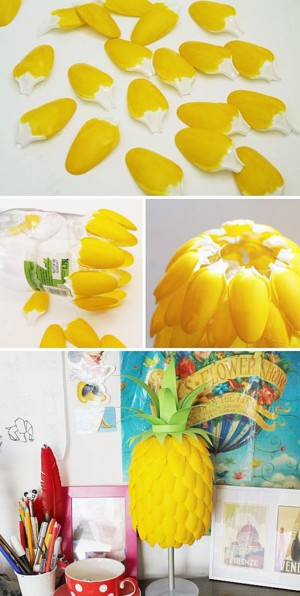 Абажур в форме ананаса