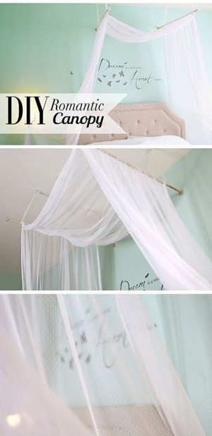 Романтичная идея для декора спальни