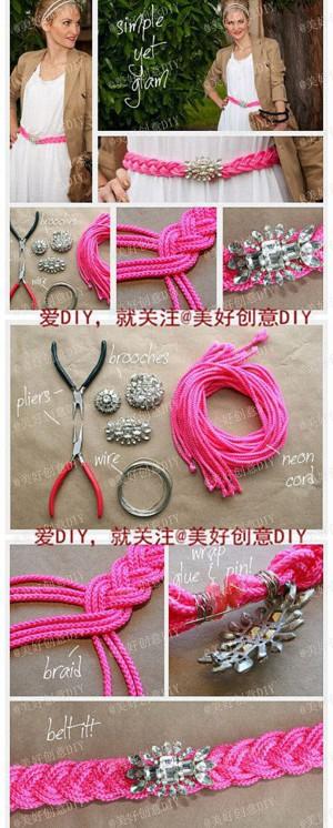 Эффектный пояс из верёвок