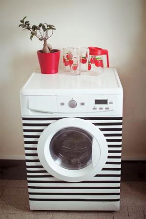 Полосатая стиральная машинка