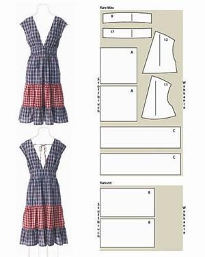 Платье с широким вырезом