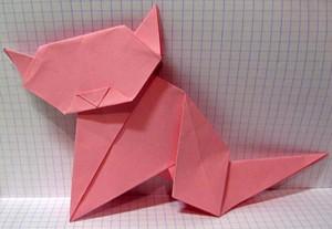 Кот оригами