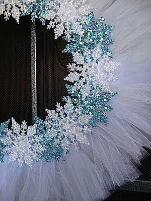 Новогодние венки из снежинок своими руками