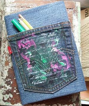 Расписной карман на блокноте