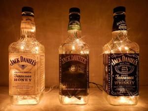 Ночник из гирлянды и бутылки