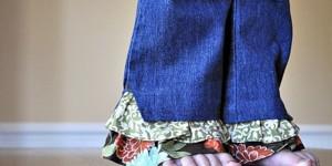 Оборки из ненужной одежды