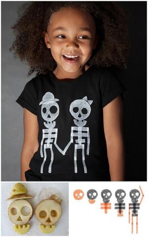 Скелеты на футболке