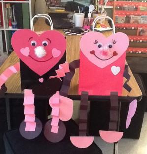 Пакеты с сердечками