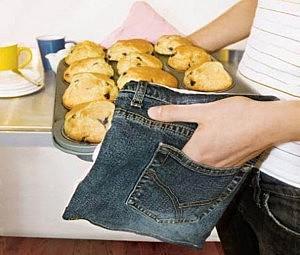Прихватки из джинсов