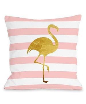 Подушка с фламинго