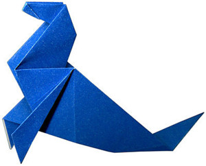 Тюлень из оригами