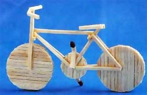 Велосипед из спичек