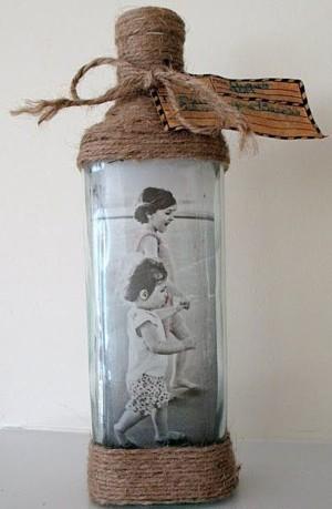 Фоторамка из бутылки