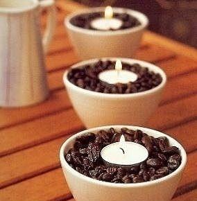 Свечи в тарелочках