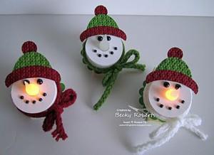Магниты-снеговики