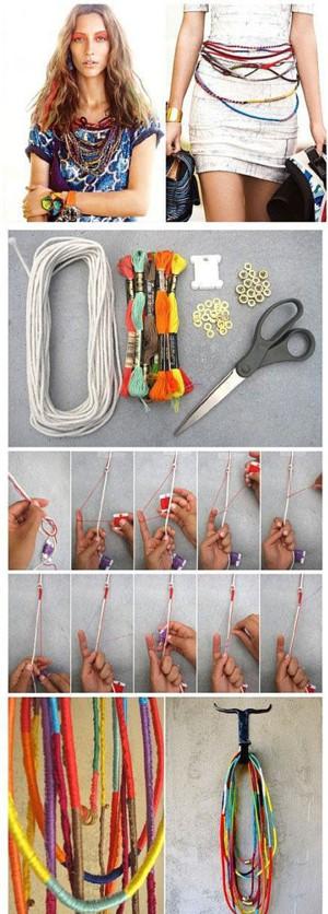 Верёвка, обмотаная нитками