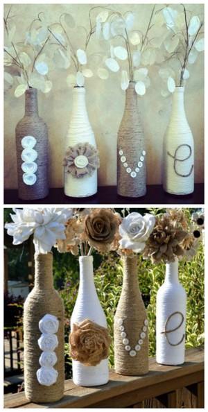 Бутылка, ставшая вазой