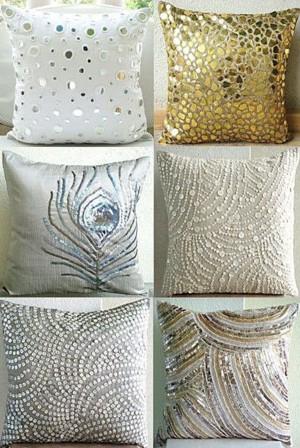 Блестящие подушки