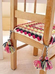 Накидка на стул крючком