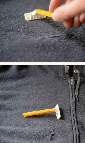 Используйте бритву