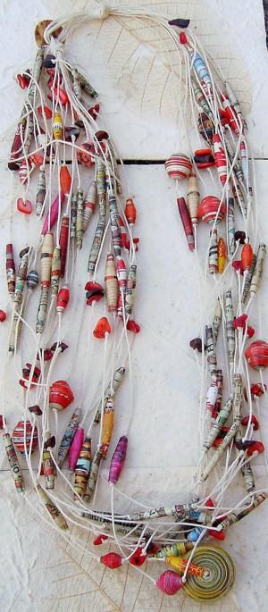 Этнические ожерелье из бумаги