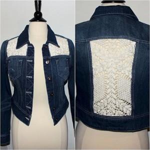 Джинсовая куртка со вставками