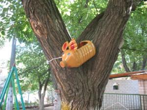 Садовая игрушка из бутылки,
