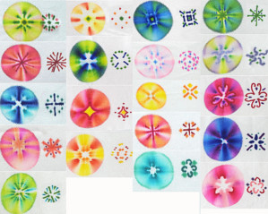Рисунки на ткани маркерами