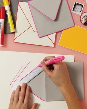 Цветная кайма у конверта