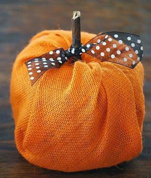Текстильная тыква