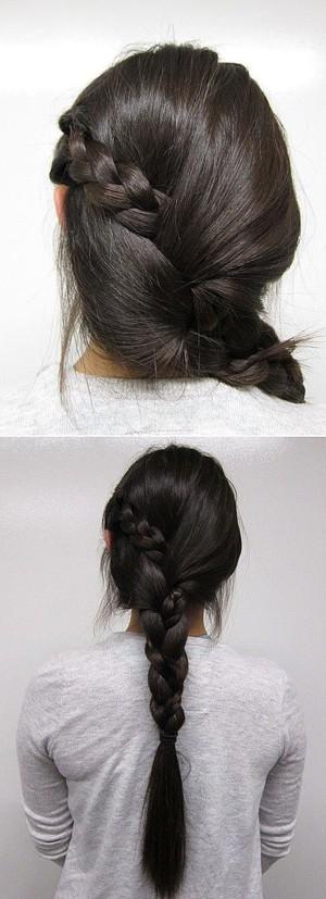 Прическа на основе косы