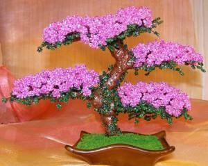 Японское дерево бисером