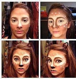 Кошачий макияж