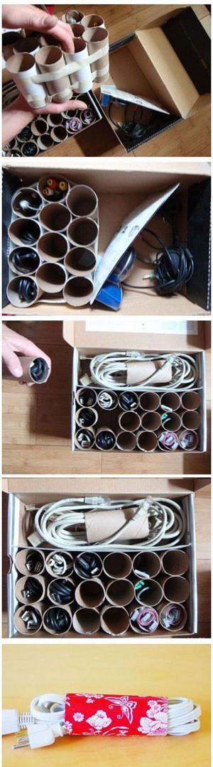 Идея для хранения проводов