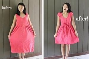 Удачная перешивка платья