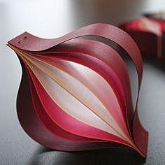 Бумажные ёлочные украшения