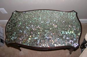 Декор мебели мозаикой