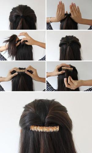 Гребешок в волосах