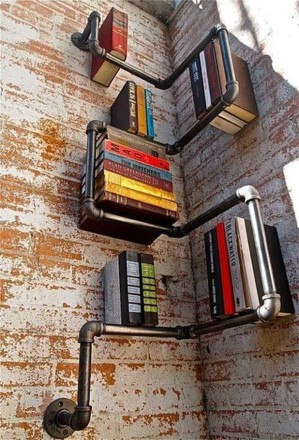 Книжные полки из труб