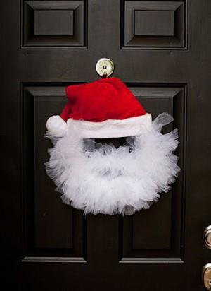 Венок-Санта из фатина