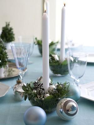 Чистый декор для новогоднего стола