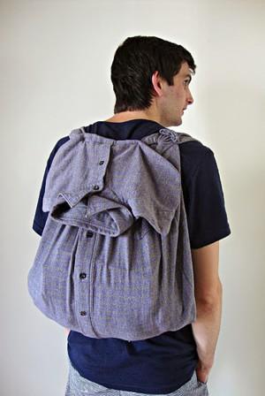 Рюкзак из рубашки