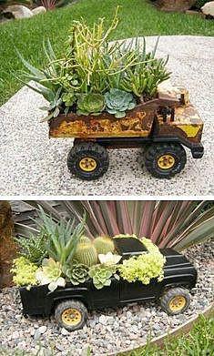 Садовые цветы в детских игрушках