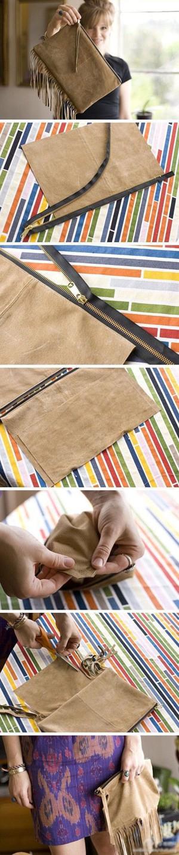 Клатчик или кошелёк с бахромой