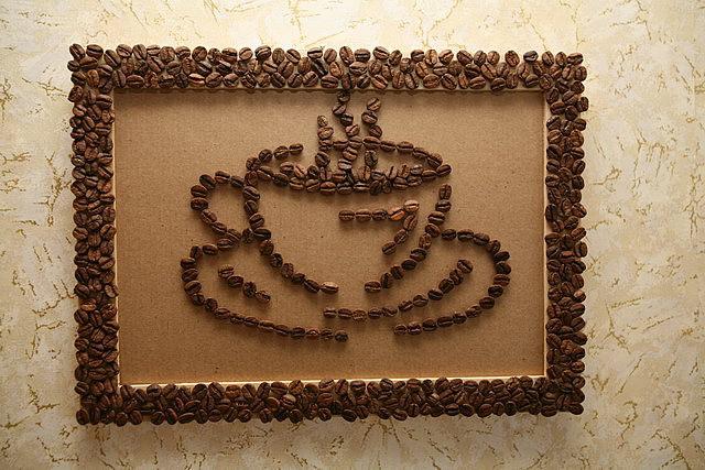 поделки из кофейных зёрен фото