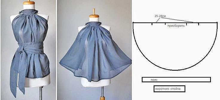 Блузки платья своими руками
