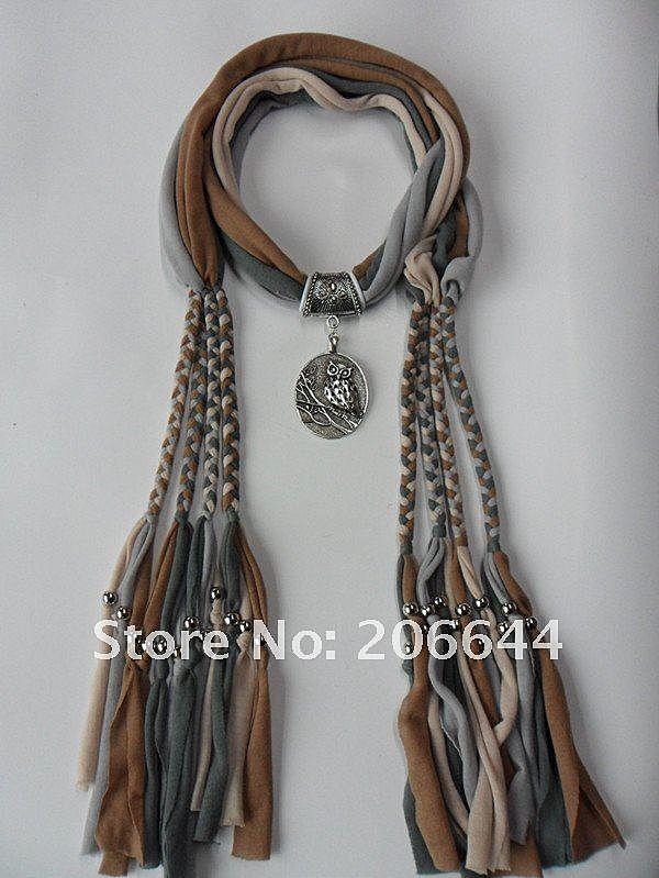 Своими руками шарф ожерелье