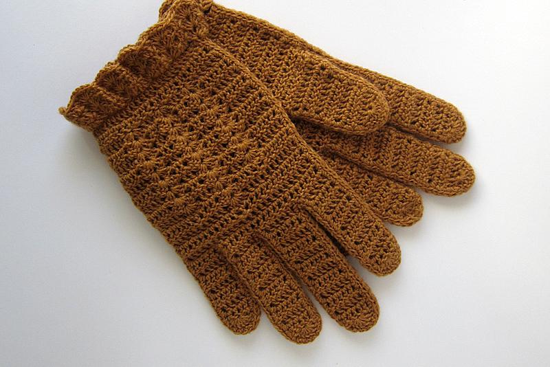 Стильные перчатки крючком