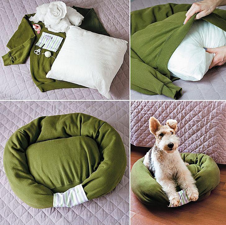 Спальные место для собаки своими руками
